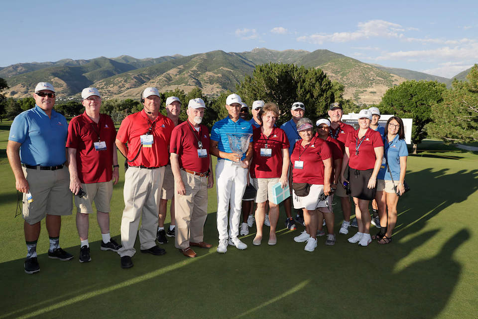 Cameron Champ with Volunteers
