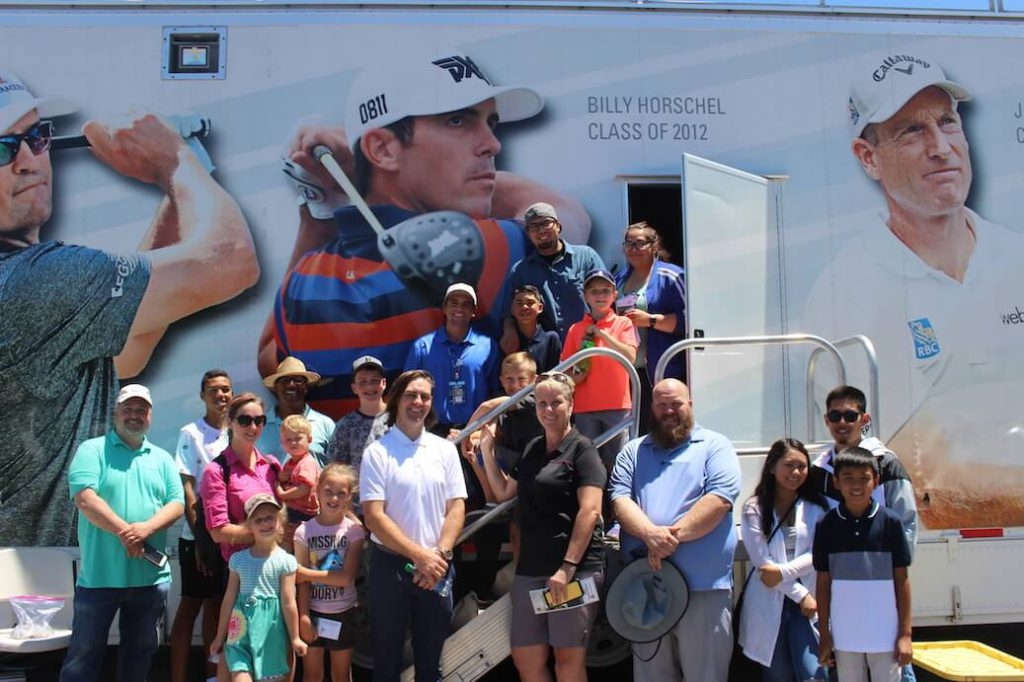First Tee of Utah visits the Korn Ferry Truck