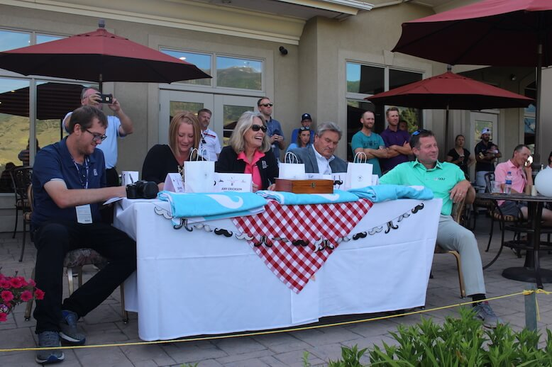 Mustache Madness Judging Panel: Kevin Prise, Amy Erickson, Karen Talbot, Mayor Jim Talbot an Gary Christian