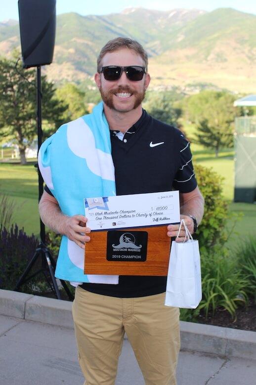 "Utah Mustache Champion, Jimmy Stanger's ""Mut & Chop"""