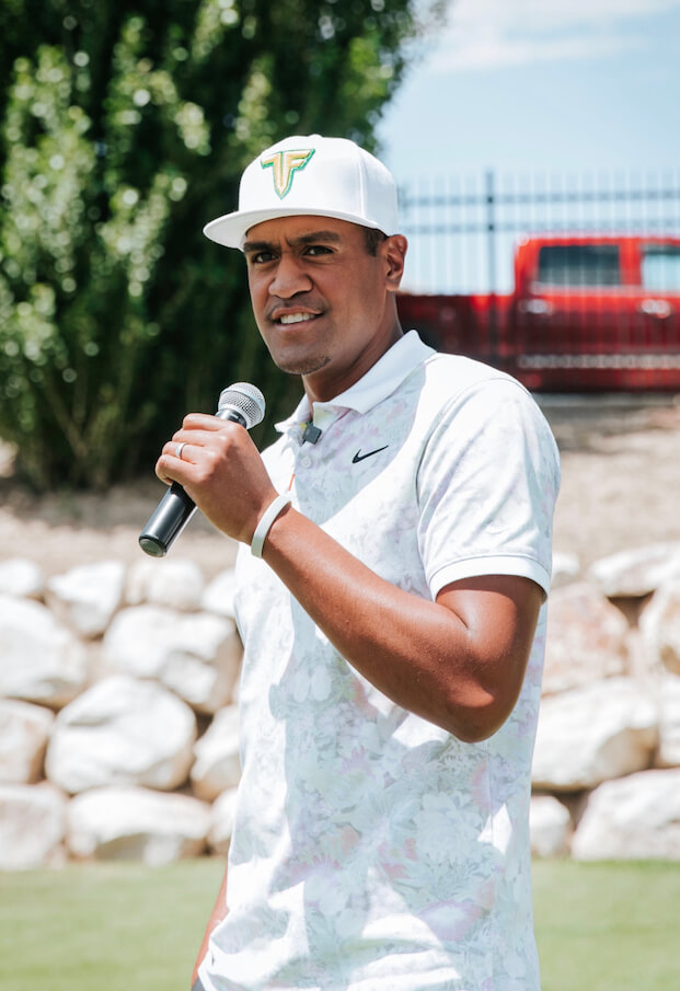 Tony Finau welcomes participants to his annual Golf Classic