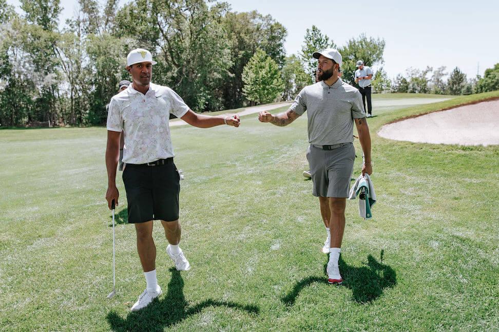Tony Finau and Deron Williams, Finau Foundation Golf Classic