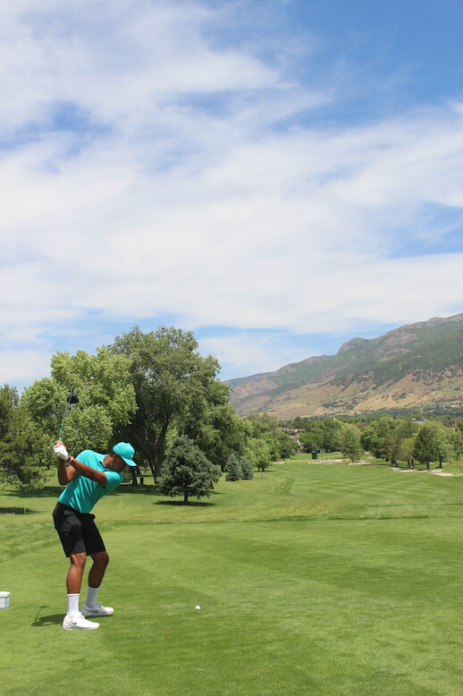 Tony Finau hits ceremonial tee to commence the newly named Korn Ferry Tour